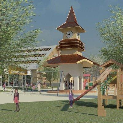 17 Parková úprava na Námestí hier zábavnej zóny NZ Centra