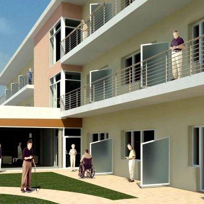 6 - Ubytovacia časť so vstupom